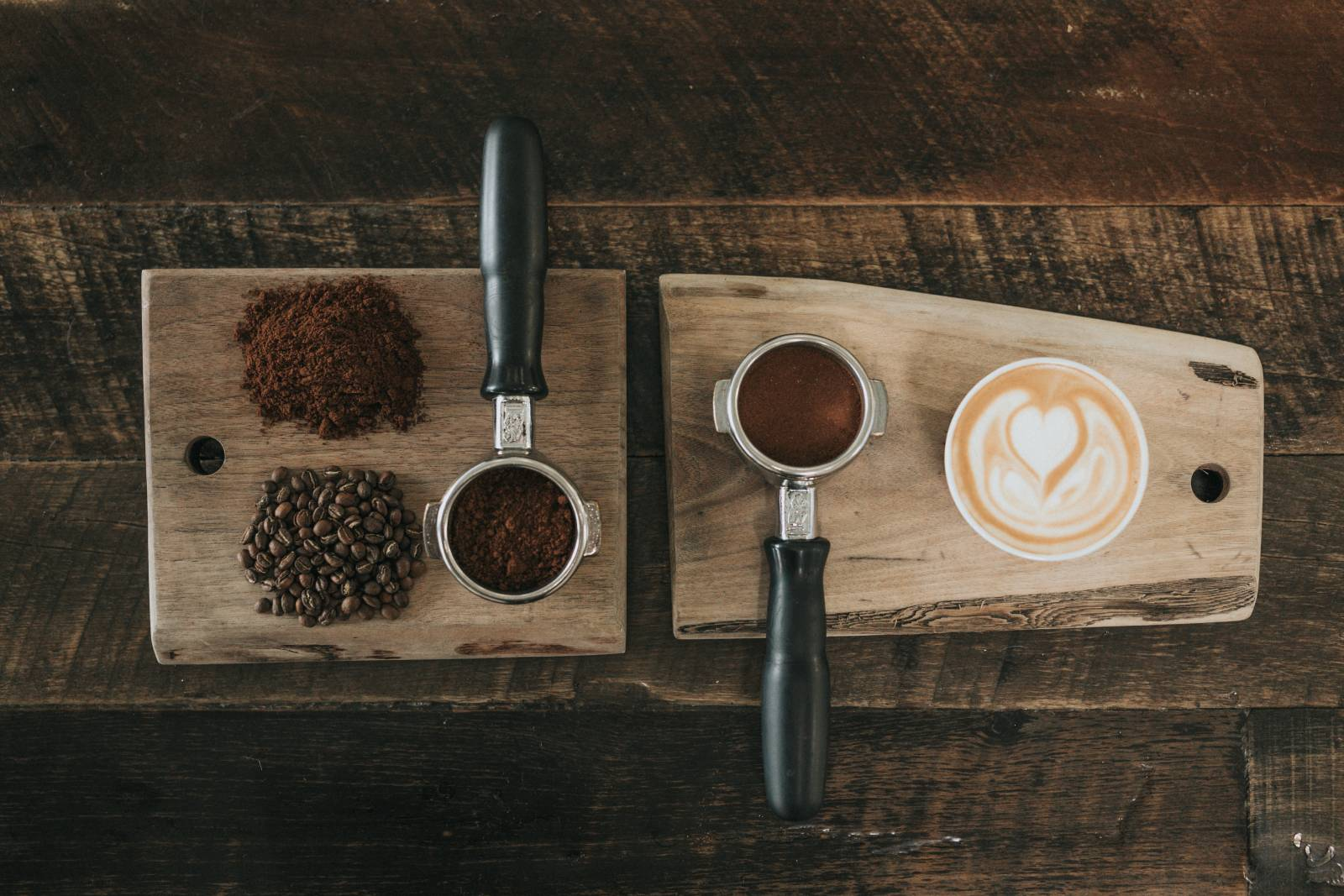 Barista with coffee background